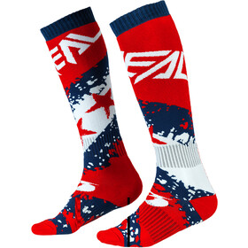 O'Neal Pro MX Socks stars-red/blue